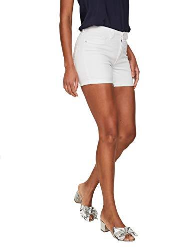 Vero Moda NOS Damen Vmhot Seven Nw DNM Fold Mix Noos Shorts , Weiß (Bright White) , M