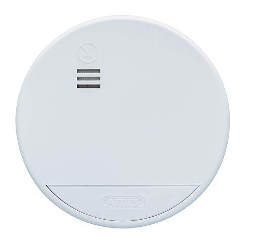 ABUS Funk-Rauchmelder RWM165 - geeignet für Wohnräume und Kellerräume - 10 Jahre Batterie - funkvernetzt - 85dB Alarmlautstärke - weiß - 73212