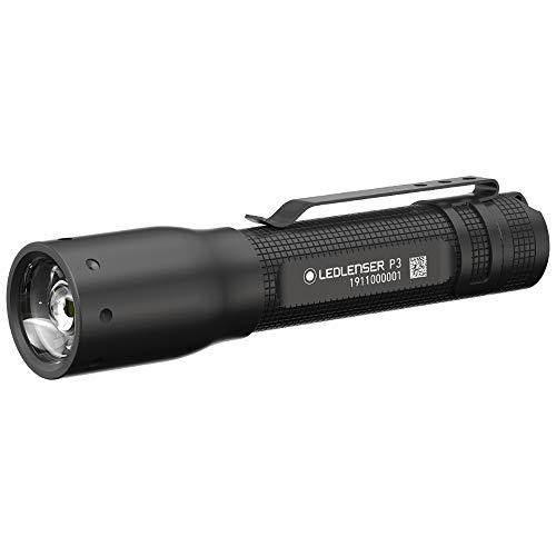 Ledlenser 500882 Allround Taschenlampe P3 - Schwarze LED Handlampe mit patentiertem Advanced Focus System - bis zu 6 Stunden Laufzeit - 25 Lumen