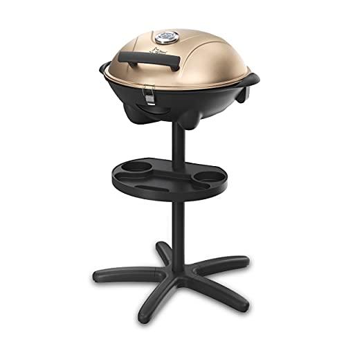 SUNTEC Elektrogrill BBQ-9479 auch als Tischgrill Geeignet   Grill mit Abnehmbarem Deckel und Regulierbaren Thermometer   Ideal für Balkon, Garten, Outdoor und Camping   Barbecue für mehrere Personen egal wo