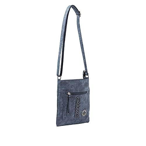 Rieker Damen H1020 Handtasche, Blau, 232x10x248