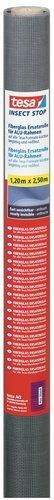 tesa Insect Stop Fliegengitter Ersatzrolle aus Fiberglas-Gewebe für tesa ALU COMFORT Mückennetz Fenster und Tür - Ersatz-Rolle 120cm x 250cm, anthrazit