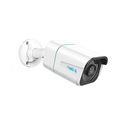 Reolink 4K Smarte PoE Überwachungskamera Aussen mit Personen-/Autoerkennung, 8MP IP Kamera mit Audio und Micro SD Kartensteckplatz, IR Nachtsicht, IP66 Wasserfest, Zeitraffer, Fernzugriff, RLC-810A