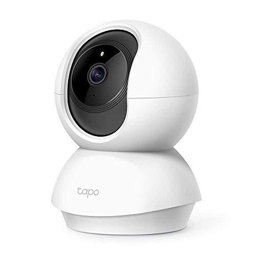 TP-Link Tapo C200 WLAN IP Kamera Überwachungskamera (Linsenschwenkung- und Neigung, 1080p-Auflösung, 2-Wege-Audio, Nachtsicht zu 9m, bis zu 128 GB lokaler Speicher auf SIM Karte) Weiß