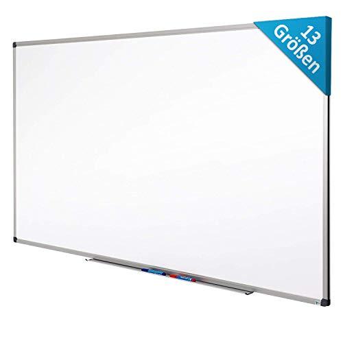 MOB Whiteboard - Sieger Preis-Leistung (Note 1,4) - 13 Größen - magnetisch und beschreibbar - Magnettafel Magnetwand - mit Aluminium-Rahmen, Stiftablage - für Hoch- und Querformat - 90 x 60 cm