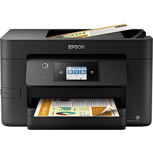 Epson WorkForce Pro WF-3820DWF 4-in-1 Tintenstrahl-Multifunktionsgerät (Drucker, Scanner, Kopierer, Fax, ADF, WiFi, Ethernet, NFC, Duplex, Einzelpatronen, DIN A4) schwarz
