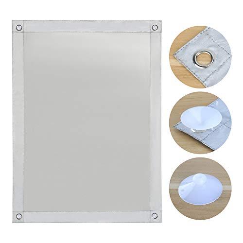 OBdeco Thermo Dachfenster Sonnenschutz Verdunkelungs für Velux Hitzeschutz ohne Bohren mit Saugnäpfen (Weiß, 96x100cm)