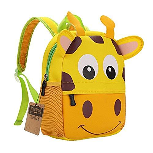 TEAMEN® Kinderrucksack Animal Schule Tasche Rucksack for Kinder Baby Jungen Mädchen Kleinkind 2-6 Alter (Giraffe)
