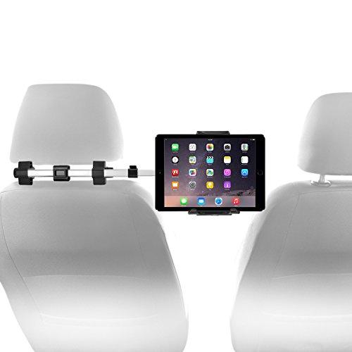 Macally Kfz-Kopfstützen-Halterung für iPad Pro/Air/Mini, Tablets, Nintendo Switch Silber