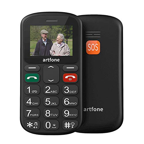artfone Seniorenhandy ohne Vertrag | Dual SIM Handy mit Notruftaste | Rentner Handy große Tasten | GSM Handy | Großtastenhandy (CS181)