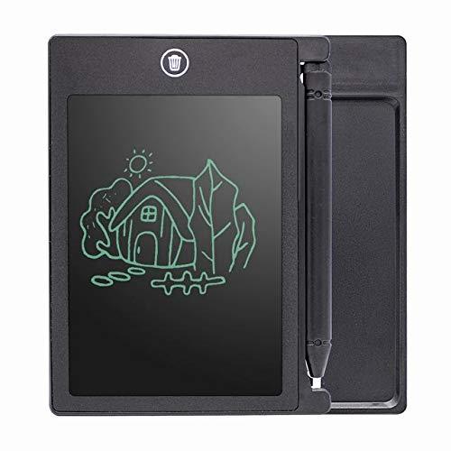 BXGZXYQ 4,4-Zoll-Kinder-LCD-Tablet LCD flüssiges Licht Kinder-Graffiti Früherziehung elektronisches Reißbrett Schreibblock Schreibtafeln (Farbe : Schwarz, Size : 8.5inch)