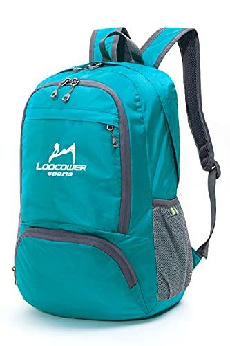 Loocower Utra Leicht Packable Reiserucksack Wanderrucksack Tagesrucksack, 30L Faltbare Camping Rucksack, Leichte Outdoor Sport Rucksack - Blue