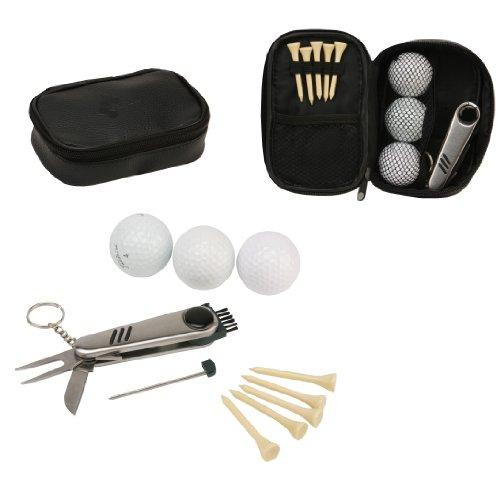 havery Makin Golf Geschenk-Set in Tasche–Bälle, Tees, Pitchgabel/Divot Repair Tool–hm345