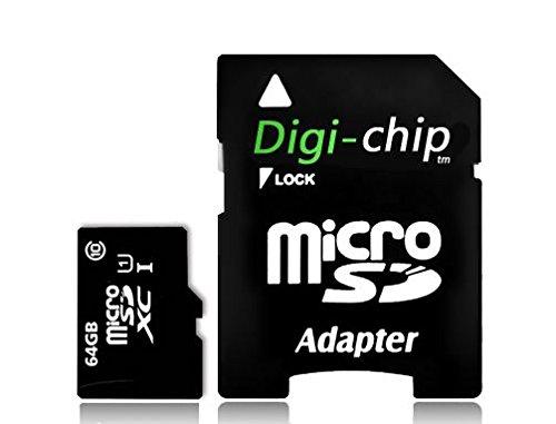 Digi-Chip 128 GB Micro-SD-Speicherkarte UHS-10 High Speed für Amazon Fire 7, Fire 7 Kids, Amazon Fire HD8, HD8 Kids, Fire HD10, Fire HD 10 Kids Tablet / PC