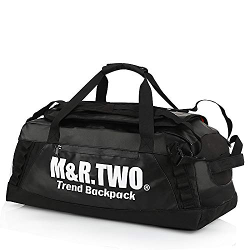 Zbshop Handtaschen, Herren Sport Fitness-Rucksäcke, Freizeit-, Multi-Funktions-minimalistische Mode, Li Bao, Schwarz senden EIN Geschenk-Set, groß