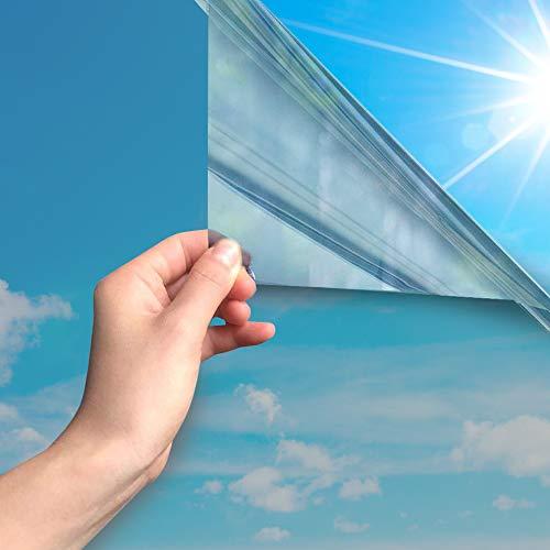 MARAPON® Spiegelfolie selbstklebend [90x200 cm] - Spiegelfolie Fenster Sichtschutz 99%-UV-Schutz, Infrarot - Wärmeschutzfolie Dachfenster