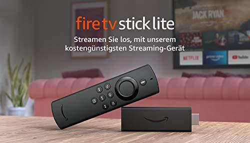 FireTVStickLite, Zertifiziert und generalüberholt | Mit Alexa-Sprachfernbedienung Lite (ohne TV-Steuerungstasten), 2020
