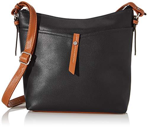 TOM TAILOR bags NOVARA Damen Umhängetasche M, black, 28x8,5x25