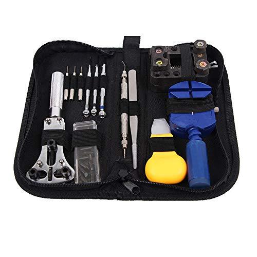 LCLrute 504 Stücke / 14 Stücke / 30 Stücke Uhr Reparatur Zurück Fall Pin Link Spring Strap Remover Opener Tool Kit Set (30Pcs)