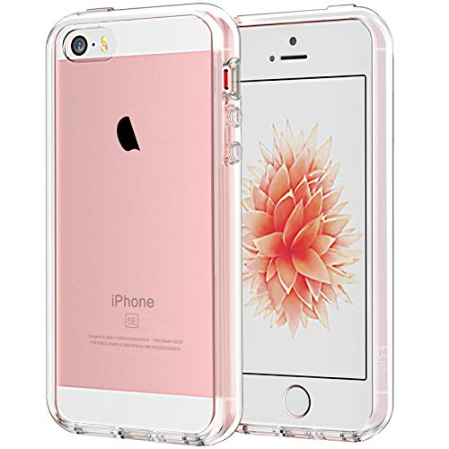 JETech Hülle Kompatibel iPhone SE 2016 (Nicht kompatibel mit dem 2020), iPhone 5s und iPhone 5, Schutzhülle Anti-kratzt Transparente Rückseiteülle (HD Klar)