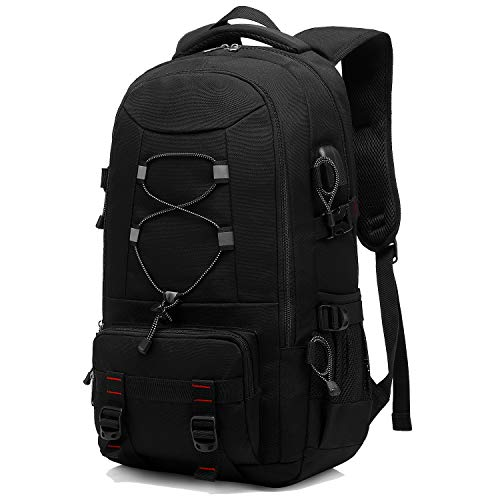 Besttravel Reiserucksack, 45L Wasserdichter Wanderrucksack Trekkingrucksack Laptop Rucksack Herren Damen Outdoorrucksack für Camping Klettern Radfahren für bis zu 17.3 Zoll Laptops