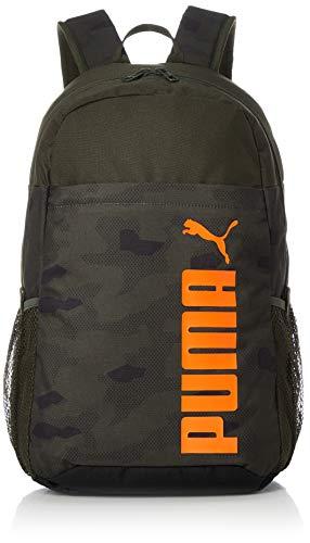 PUMA Style Backpack Unisex Rucksack 076703 aus 100% Polyester mit Reißverschluss, Groesse OneSize, khaki/orange