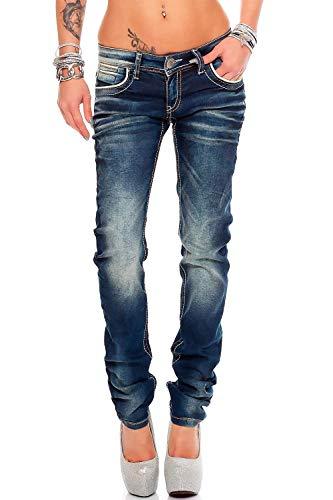 Cipo & Baxx Damen Jeans WD256ba Blau W27/L32