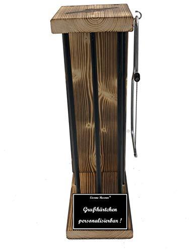 * Personalisierbar - Eiserne Reserve ® Black Edition - Rohling zum SELBST BEFÜLLEN Größe M - incl. Säge zum zersägen der Stäbe - Die Geschenkidee