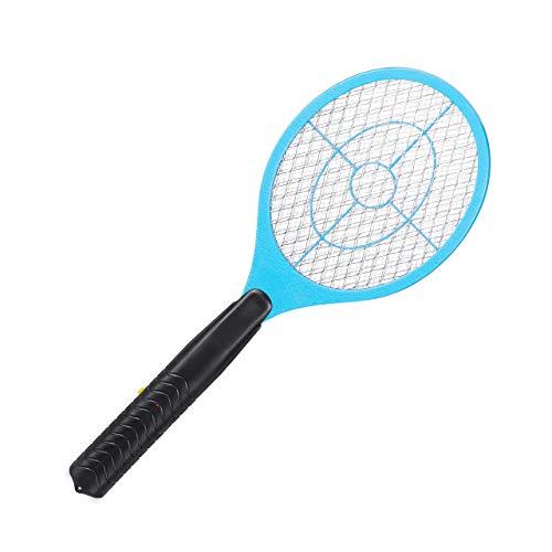Relaxdays, hellblau elektrische Fliegenklatsche, ohne chemische Stoffe, gegen Fliegen, Mücken & Moskitos, Fly Swatter, HxBxT: 47x17,5x3cm