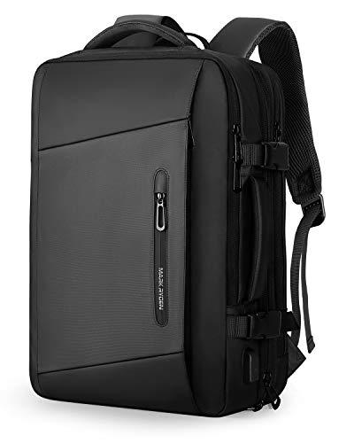 MARK RYDEN Erweiterbarer 25L-40L Rucksack,Business Rucksack Herren, Laptop-Tasche 17,3-Zoll mit USB-Ladeanschluss,Wasserdichter Rucksack Diebstahlsicher, Fluggeprüfter Rucksack, Handgepäck-Rucksack