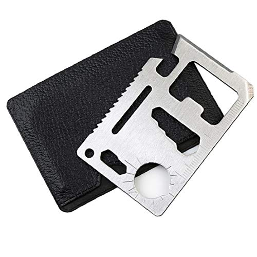 Multi-Tools Edelstahl, 11 in 1 Überlebens-Taschen-Werkzeug-Bier-öffner Überleben Karten-Tool Geldbörse Mit Kreditkarte Multi Geschenk-Set