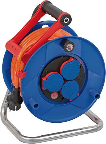 Brennenstuhl Garant IP44 Kabeltrommel (25m Kabel in orange, Spezialkunststoff, Einsatz im Außenbereich, Made in Germany)
