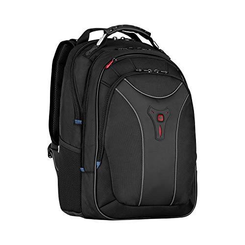 Wenger Carbon Laptop-Rucksack, Notebook bis 17 Zoll, 30 l, Damen Herren, Business Uni Schule Reisen, Schwarz