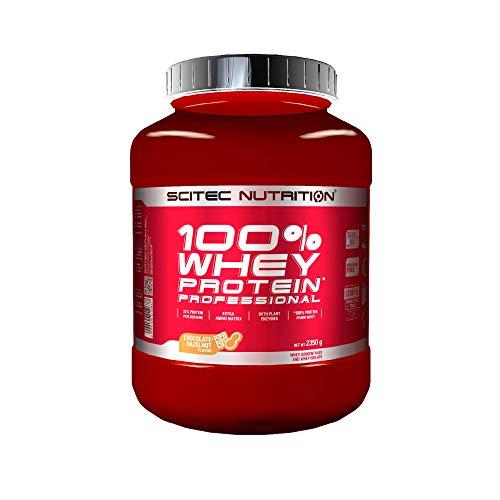 Scitec Nutrition 100% Whey Protein Professional mit extra zusätzlichen Aminosäuren und Verdauungsenzymen, glutenfrei, 2.35 kg, Schokolade-Haselnuss