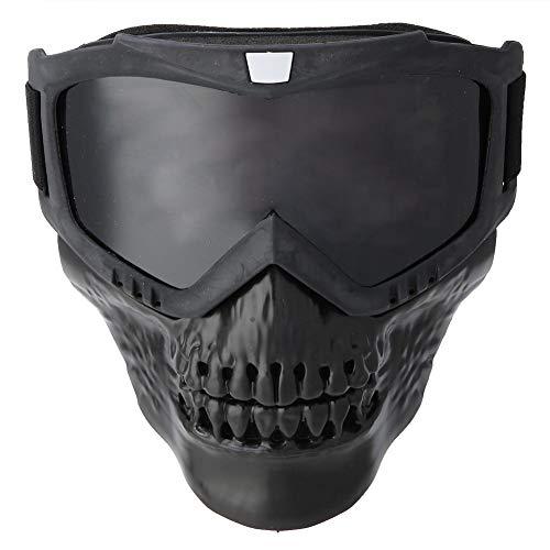 Keenso Motorrad Maskenbrille, Unisex Outdoor Abnehmbare Motorradbrille Helm Maske Skibrille Sport Motorrad Racing Augenschutzbrille(Grau)