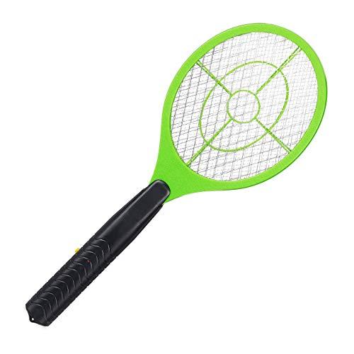 Relaxdays 1 x elektrische Fliegenklatsche, ohne chemische Stoffe, gegen Fliegen, Mücken & Moskitos, Fly Swatter, hellgrün