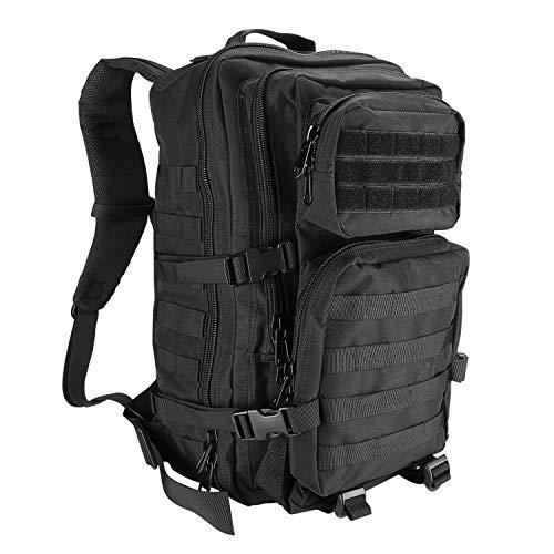 ProCase Militär Taktische Rucksack, Große Kapazität 3 Tage Armee Assault Pack Bag Go Bag Rucksack für Wandern Jagd, Trekking und Camping und andere Outdoor Aktivitäten –Schwarz