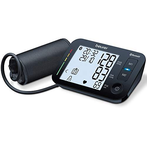Beurer BM 54 Oberarm-Blutdruckmessgerät, digitaler Blutdruckmesser mit XL-Display, App-Anbindung mit zertifiziertem Datenschutz, Arrhythmie-Erkennung, große Manschette für Oberarme von 22-44 cm