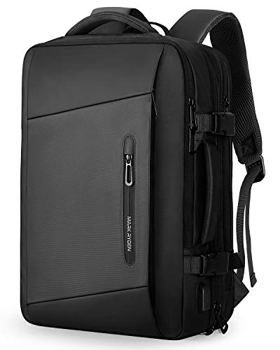 MS MARK RYDEN Laptop Rucksack, 25L- 40L 17,3 Zoll Business Rucksack Herren, Laptop Tasche mit USB-Ladeanschluss,Wasserdichter Rucksack Diebstahlsicher, Fluggeprüfter Rucksack, Handgepäck-Rucksack