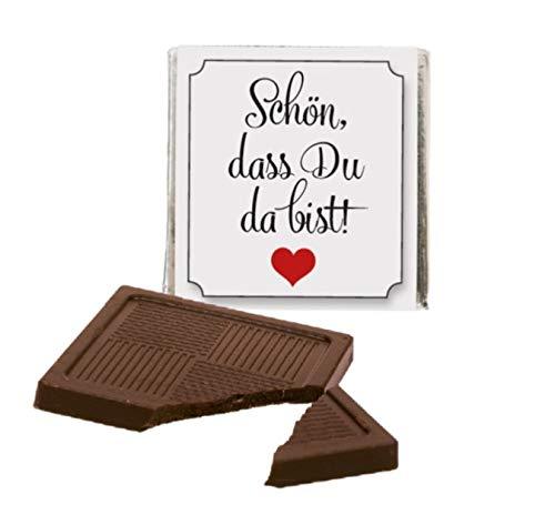 Ja-Hochzeitsshop Schokoladentafeln (50 Stück). Perfekt als Gastgeschenk für Eure Hochzeit. Frei von Konservierungsstoffen + made in DE