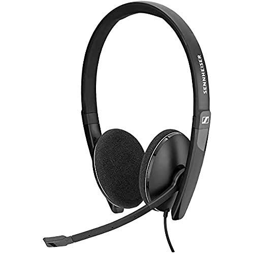 Sennheiser PC 5.2 Chat, Stilvolles Multi-Plattform On-Ear Headset PC, Kopfhörer mit Kabel, Bewegliches Rauschunterdrückendes Mikrofon, Online-Anrufe & -Unterricht, für Laptop, Telefon & PC