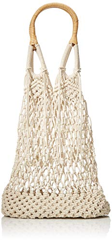 PIECES Damen Pccherry Macrame Bag Henkeltasche Weiß (Nature)
