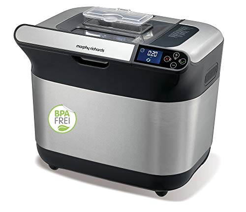 Morphy Richards Weiß 502000EE Premium Plus Brotbackautomat, Gebürstet BPA-frei, Stainless Steel