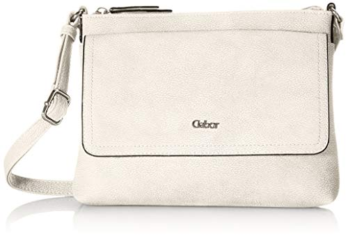 Gabor bags DINA Damen Umhängetasche M, off white, 25,5x4x18,5