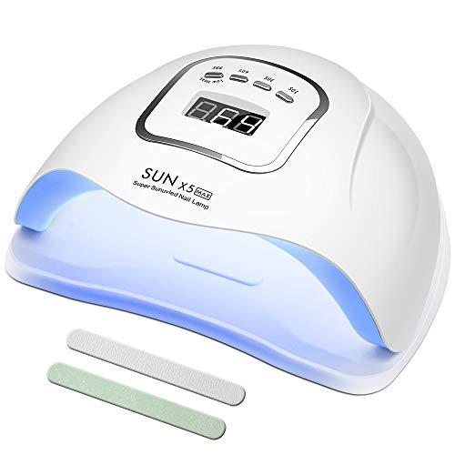 150W Nageltrockner, UV LED Nagellampe für Gelnägel, mit 10/30/60/99s Timer Einstellungen Infrarot Sensor LCD Display Schnell Trocknender Nagellampe