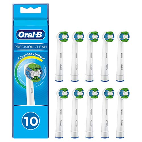 Oral-B Precision Clean Aufsteckbürsten mit CleanMaximiser-Borsten für eine optimale Reinigung, in briefkastenfähiger Verpackung, 10Stück