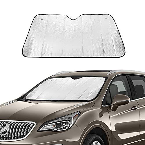 Auto Sonnenschutz Frontscheibe Windschutzscheibe Schutz KFZ Doppelseitiges Aluminiumfolie Sonnenblende Faltbare Einfache Lagerung 140 x 70cm