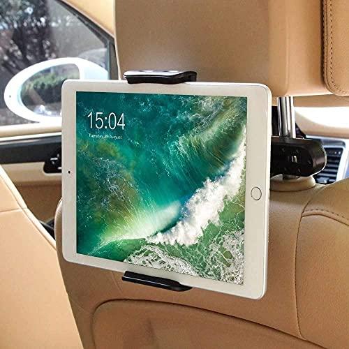 Tablet Halterung Auto, POOPHUNS KFZ-Kopfstützen Tablet Halterung, 360 Grad Drehung, Einfache Installation, Universal für iPad 2/3/4/Mini/Air, Samsung Galaxy Tab und die Meisten 6-11 Zoll Tablets …
