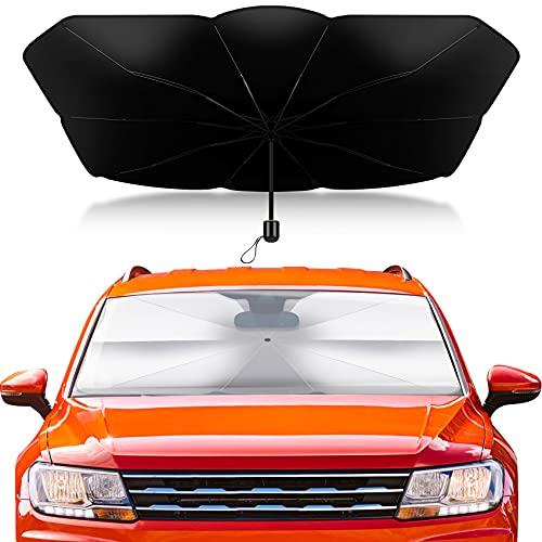Sonnenschutz Auto Frontscheibe Innen,Reflektierend Sonnenschirm mit UV Shutz für Auto Windschutzscheibe und Heckscheibe,140*79cm
