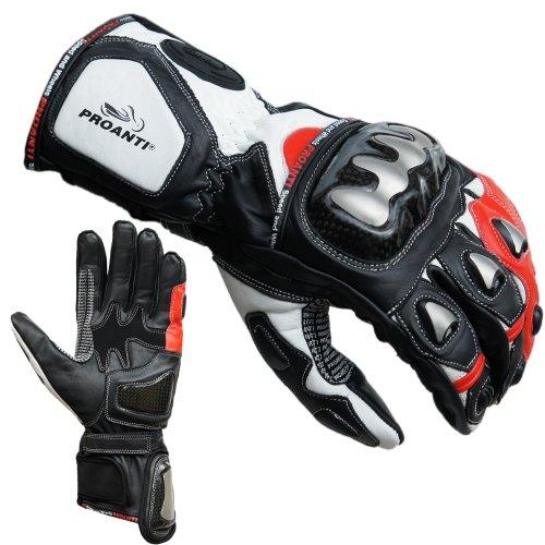 PROANTI Motorradhandschuhe Racing Pro Motorrad Handschuhe - Rot Größe M